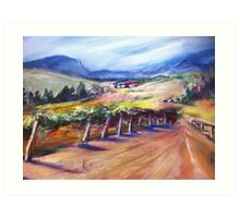 Winery in Australia Art Print