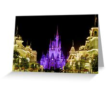 Cinderella Castle at Night - Natural Greeting Card