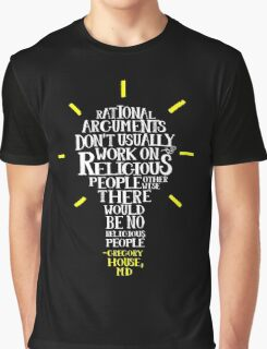 HOUSE M.D. word-cloud by Tai's Tees Graphic T-Shirt
