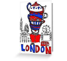 London Teatime Greeting Card