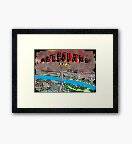 Melbourne on Fire Framed Print