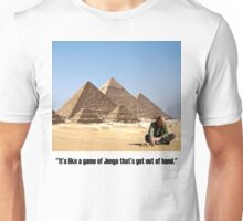 "Karl Pilkington - ""It's like a game of Jenga that's got out of hand"" Unisex T-Shirt"