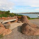 A seat with a view, Granite Island. by Gail Mew