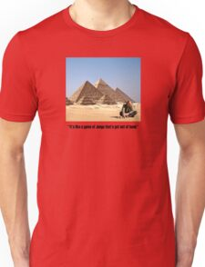 """Karl Pilkington - """"It's like a game of Jenga that's got out of hand"""" Unisex T-Shirt"""