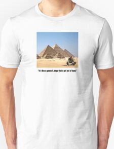"Karl Pilkington - ""It's like a game of Jenga that's got out of hand"" T-Shirt"