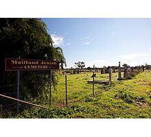 Historic Maitland Jewish Cemetery, NSW Australia Photographic Print