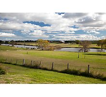 Rural Scene, East Maitland looking west to Oakhampton, NSW Australia Photographic Print