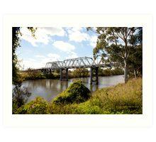 Historic Morpeth Bridge (1898) over the Hunter River, NSW Art Print