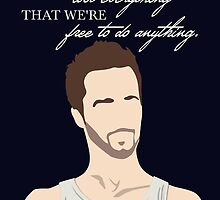 Fight Club Quote by OutlineArt