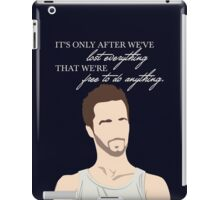 Fight Club Quote - It's Only After We've Lost Everything iPad Case/Skin