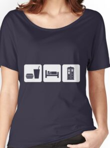 Eat Sleep and Doctor Who Women's Relaxed Fit T-Shirt