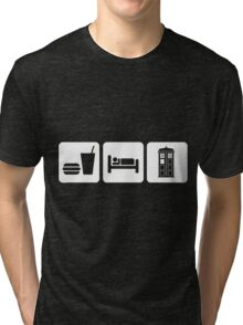 Eat Sleep and Doctor Who Tri-blend T-Shirt