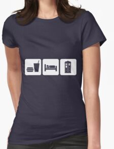 Eat Sleep and Doctor Who Womens Fitted T-Shirt