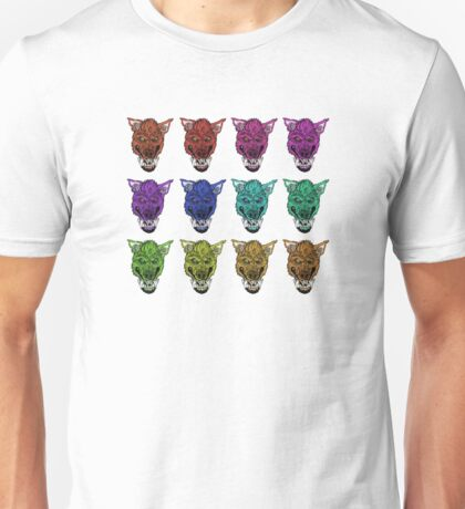 Colorful Werewolves- Collage Unisex T-Shirt