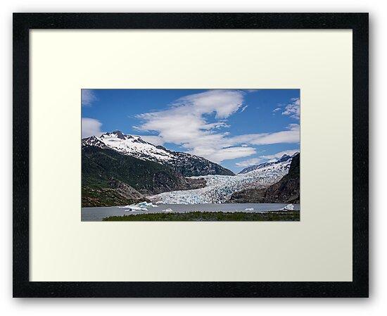 The Mendenhall Glacier on a Blue Sky Day, Alaska by Gerda Grice