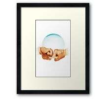 Bromance: Fist Bump Framed Print