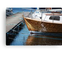 boat   at the pier   Canvas Print