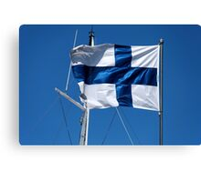 Flag of Finland Canvas Print