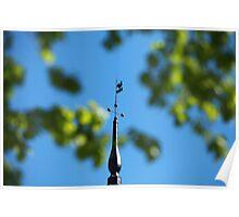 vane in the Blue sky Poster