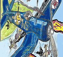 Corsair Snoopy The All Time Flying Ace  by Brian Douglas