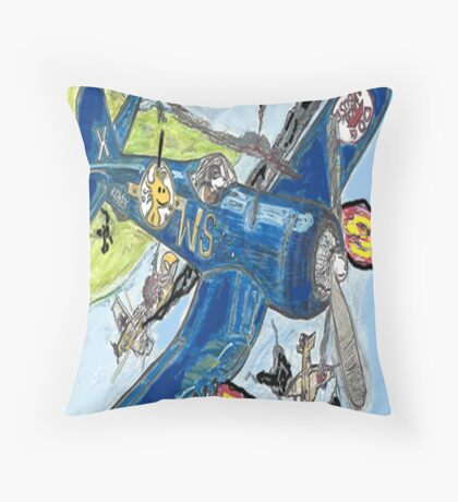 Corsair Snoopy The All Time Flying Ace  Throw Pillow