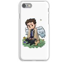 Castiel Iphone Case (white wings) iPhone Case/Skin