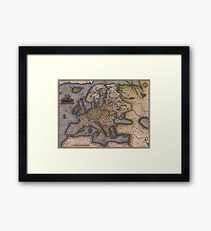 Europe Map 1572 Framed Print
