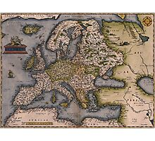 Europe Map 1572 Photographic Print
