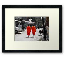 Saffron Robes Framed Print
