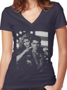 Top Gun Women's Fitted V-Neck T-Shirt