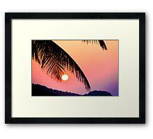 Twilight in Paradise Framed Print