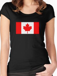 Flag of Canada Women's Fitted Scoop T-Shirt