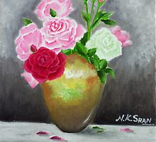 Roses in Vase by nksran
