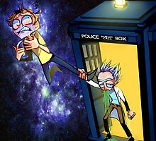 Rick and Morty in TARDIS by m-chi
