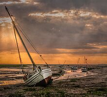 Low Tide Sunset by Tarrby