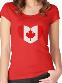 Love Canada Women's Fitted Scoop T-Shirt