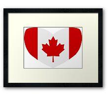 Love Canada Framed Print