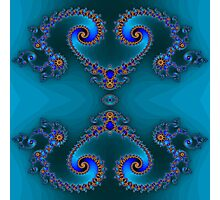 Blue Double Double Photographic Print