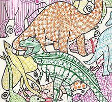 Patterned Dinosaurs by Zoe Swann