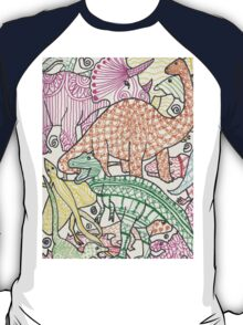 Patterned Dinosaurs T-Shirt