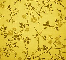 Flowers, Petals, Leaves on Fabric - Yellow by sitnica