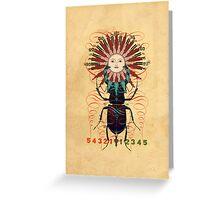 sun-beetle 1 Greeting Card