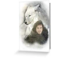 John Snow Greeting Card