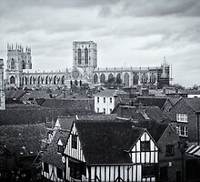 Monochrome York Rooftops by paulwhittle