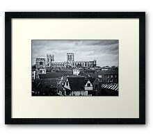 Monochrome York Rooftops Framed Print
