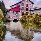 The Old Grist Mill by Wib Dawson
