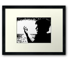 The Spaces Between My Fingers Framed Print