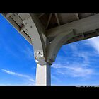 White Gazebo Roof Detail Under Blue Sky - Northport, New York  by © Sophie W. Smith