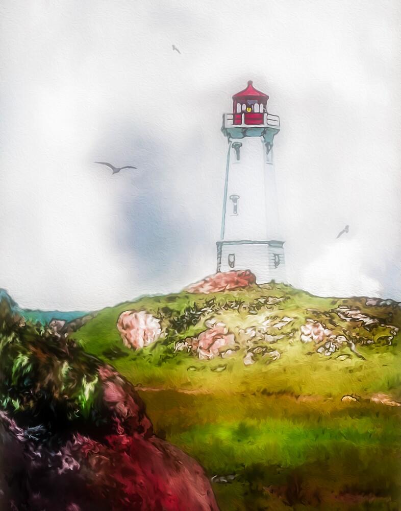 Morning Mist - Louisbourg by Wib Dawson