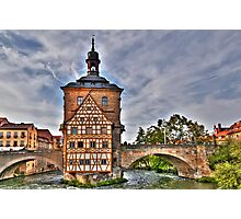 Bamberg Old Town Hall or Altes Rathaus Photographic Print